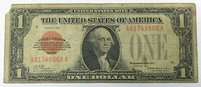 Rare 1928 $1 One Dollar United States Note, Red Seal