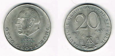 20 Mark 1973 A Otto Grotewohl Ddr Münze Neusilber Eur 249