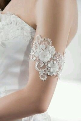 Lace bride armlet by Emmerling bridal dress accessory vintage inspired