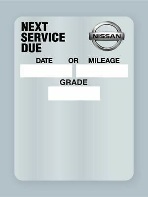 NISSAN Mobil 1 Oil change reminder windshield cling stickers 50 for $7.99