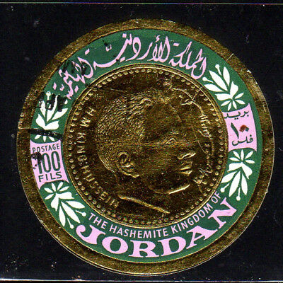 JORDAN #535c  1967  100f  PORTRAIT OF CROWN PRINCE HASSAN     F-VF  USED