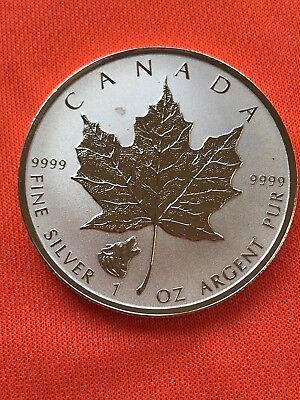 2016 $5 CANADA 1OZ SILVER MAPLE LEAF  REVERSE PROOF WOLF PRIVY MARK 9999 Fine 😁