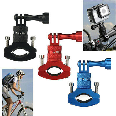 Bicycle Bike Cycle Camera Handlebar Bar Clamp Mount Trip for All Gopro 360 Degre