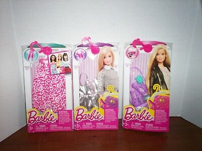Barbie Doll Clothes Fashion Pack Lot of Outfits with Accessories New