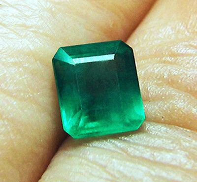 3.09 ct Natural Earth Mined Emerald Certified No Reserve