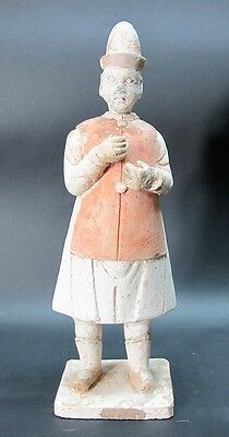 """Finely Detailed 11"""" CHINESE MING DYNASTY (1368 1644) Art Pottery Attendant +"""