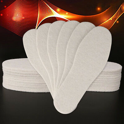 1 Pair Wool Insoles Winter Thick Soft Warm Plush Breathable Unisex Thermal Pads
