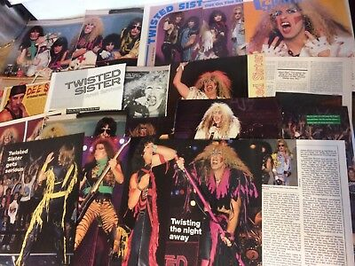 Twisted Sister, Lot of TEN Two and Three Page Vintage Clippings