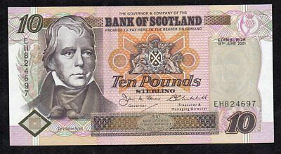10 Pounds From Scotland 2001 Unc