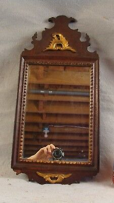 Antique Original 18C Queen Anne Mahogany Wall Mirror