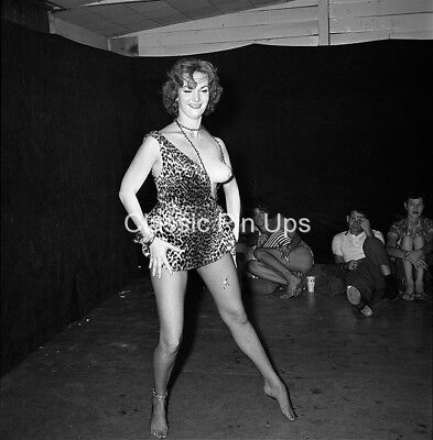 Bunny Yeager Archive 1960s Orig 2 1/4 Camera Negative BEATNIK PARTY Pinup NUDE