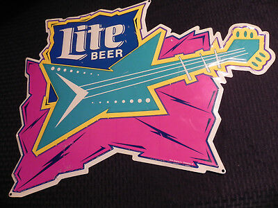 "Vintage Miller Lite Beer Tin Metal Sign,jackson Warrior,18""x24"" Retro1980's Logo"