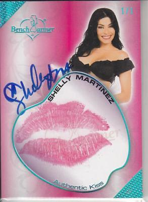 2018 Benchwarmer Hot For Teacher Shelly Martinez One Of One Auto Kiss Card Sp /1