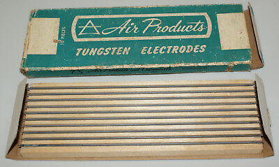 10 pack Air Products Welding Tungsten Electrode Pure (Green) Vintage NEW NIB