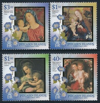 2003 Pitcairn Island Christmas Set Of 4 Fine Mint Mnh