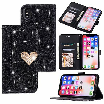 Crystal Bring Glitter Phone Cover Case For HUAWEI SAMSUNG IPHONE X/XR/XS MAX