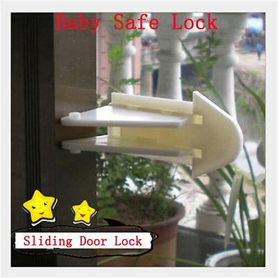 2pc Baby Toddler Home Safety Lock Limit Protect Glass Sliding Door Window BM