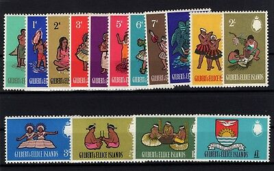 P97543/ Gilbert & Ellice Islands / Y&t # 84 / 98 Mint Mnh Full Set