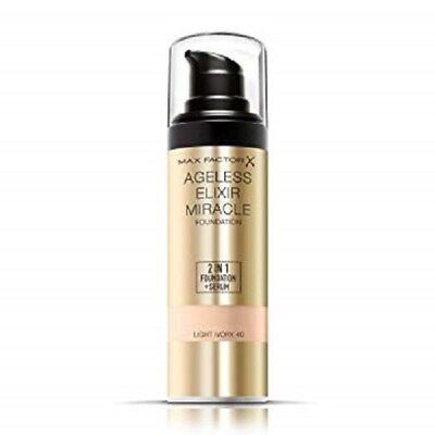 Max Factor Ageless Elixir Miracle Foundation | Light Ivory 40 | 2 in 1