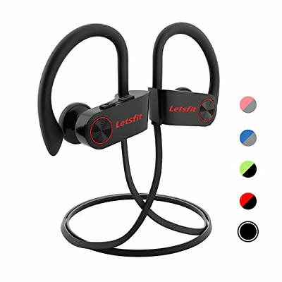 Letsfit Bluetooth Headphones, Wireless Headphones with Mic, HD Stereo Sport for