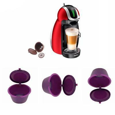 1/2/5pcs Refillable Reusable Coffee Capsules Pods For DOLCE GUSTO Machine Brown