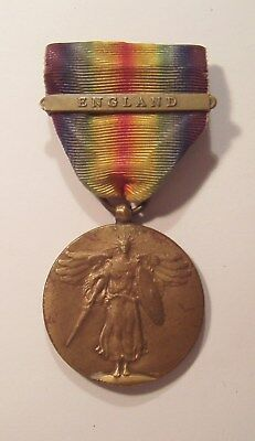 VINTAGE WW I Victory Medal with ENGLAND BAR