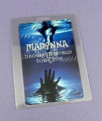 Madonna Original Backstage Pass - Drowned World Tour 2001- Unused Stock !