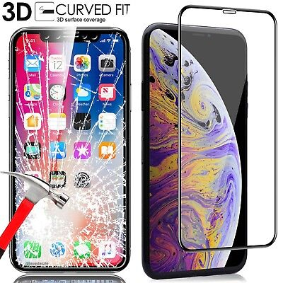 3D Curved Full Tempered Glass Screen Protect For iPhone XS Max XR X 8 6S 7 Plus