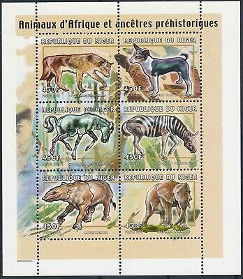 [H15076] Niger 2000 Wild animals - Prehistoric fauna Good sheet very fine MNH
