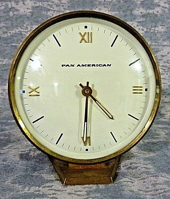 Vintage PAN AM Pan American Mid Century Desk Clock - Advertising
