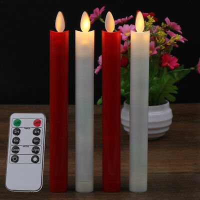 2pcs Electric LED Candles Flickering Flameless Battery Candle Light