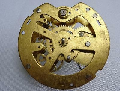 "Antique Vintage Brass Pocket Watch Clock Movement - 2¼"" Diameter"