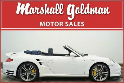 2011 Porsche 911  2011 Porsche 911 Turbo S cab Carrera White with Sea Blue only 14,100 miles