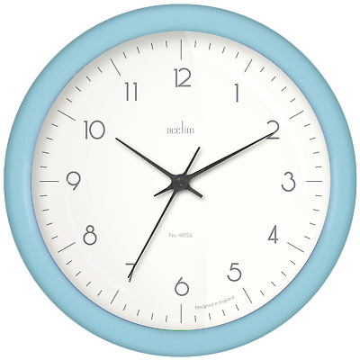 Acctim 29475 Chiltern 24cm Metal Wall Clock in Sage