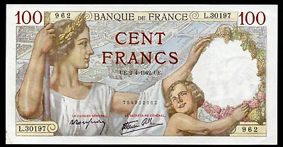 100 Francs Sully 1942 Strong XF