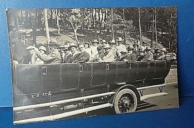 Jersey Channel Island Postcard Open Bus Outing c1920's A Smith  Real Photo Card
