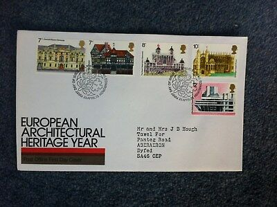 European Architectural Heritage Year - 1975 First Day Cover