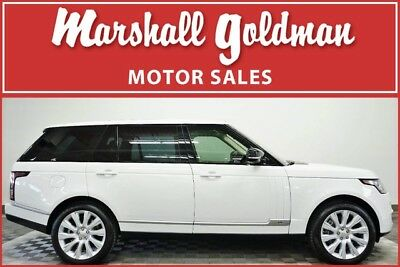 2014 Land Rover Range Rover  2014 Range Rover LWB Fuji White over Almond leather Nav 27,000 miles