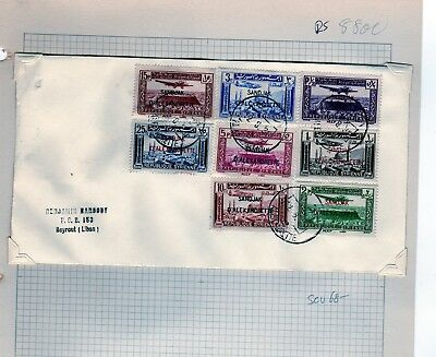 Alexandretta Syria Airmail Set Overprint Alexandretta Cover  (RS8800)