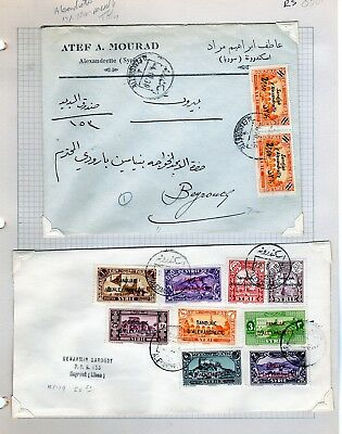 Alexandretta Syria Overprint Alexandretta Covers  (RS8801)