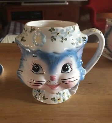 HTF Vintage Lefton Miss Priss Cup Mug 1503