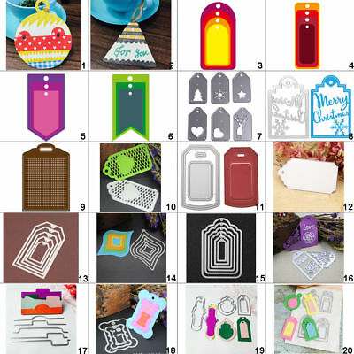 DIY Tag Metal Cutting Dies Stencil Scrapbooking Album Paper Card Embossing Decor