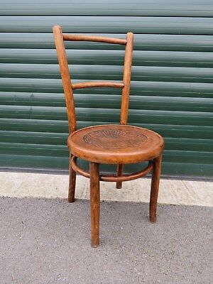 Antique Oak Bentwood Thonet Carved Chair - A/f Display Or Restore Project