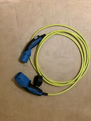 Mennekes Type 2 16 Amp EV Charging Cable. 4 Metre. 7-pin. Yellow.