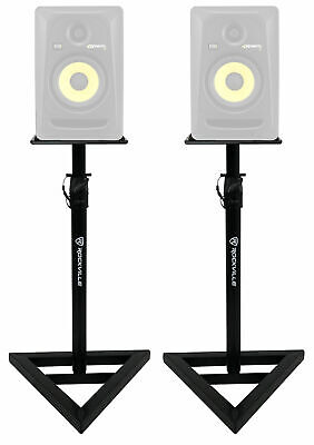 2 Rockville Adjustable Studio Monitor Speaker Stands For KRK ROKIT 5 G3 Monitors