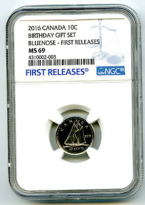 2016 Canada 10 Cent Dime Birthday Set Ngc Ms69 First Releases Top Pop=4 Registry