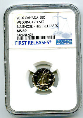 2016 Canada 10 Cent Dime Wedding Set Ngc Ms69 First Releases Top Pop=5 Registry