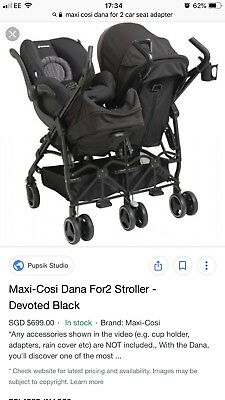 Maxi Cosi Dana For 2 Adapters