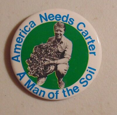 Jimmy Carter 1976 campaign pin button political