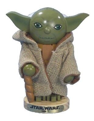 "Star Wars 8"" Wooden Yoda Christmas Nutcracker SW0154 Adler"